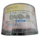 Dvd Imprimible Princo 50 Unidades 8 X 4.7 Gb Para Impresión