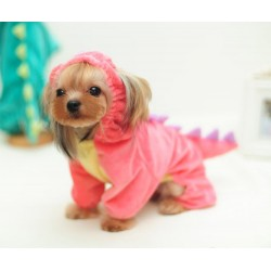 Disfraz Perro Halloween Pequeño Dragón Capucha Rosado Mascota