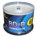 Blu Ray Bd - R Imprimible Huskee 50 Unides 6x 25 Gb Dvd Cd