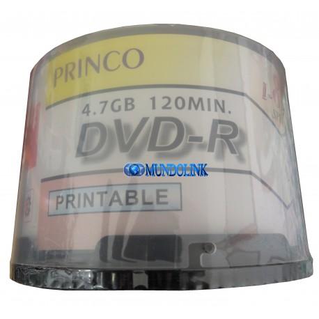 Dvd Imprimible Princo 600 Unidades 4.7g Para Impresión Caja