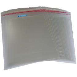 100 sobres celofán con solapa adhesiva cd dvd