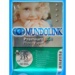 Papel Fotográfico Brillante Fujiflim tamaño A4