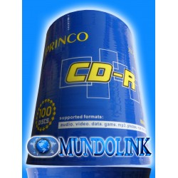 Cd Imprimible Princo 100 Unidades 52X 700 Mb Para Impresión