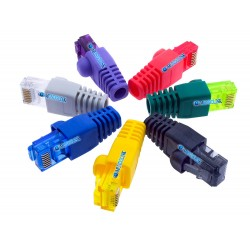 Conector Red Cat5e Rj 45 Eternet + Capuchon Bota Protector Colores