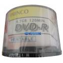 CajaDvd Imprimible Princo 600 Unidades 4.7g Para Impresión