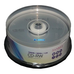 Cd - Rw 25 Unidades 12x 700 Mb Marca Sankey Regrabable Virgen
