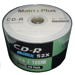 Cd - R 50 Unidades 52x 700 Mb Marca Matrix Plus
