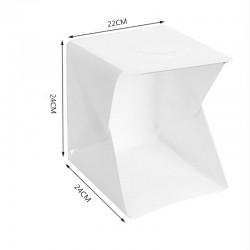Caja Estudio Mini Fotografía Portátil Plegable Luz Led Fondo