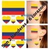 Tatuaje Temporal Bandera Selección Colombia Fiesta Patria Tatoo