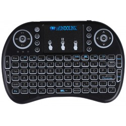 Teclado Inalambrico Mini Retro Iluminado Mouse Tactil Tv Box