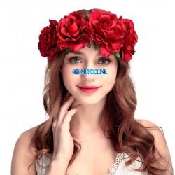 Corona Diadema Tiara Flores Rosas Dama Honor Boda Catrina