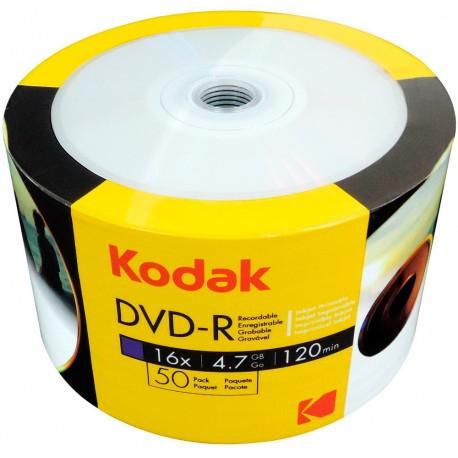 Dvd Imprimible Kodak 50 Unidades 8x 4.7 Gb Para Impresión