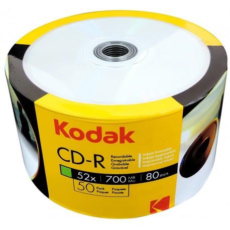 Cd Imprimible Kodak 50 Unidades 52x 700 Mb Para Impresión