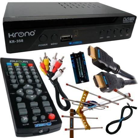 Decodificador Tdt Television Gratis Full Hd Antena Externa