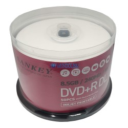Dvd + R Dl Doble Capa Imprimible Huskee 50 Unids 8x 8.5 Gb