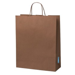 12 Bolsas Papel Kraft 120 Gr 32x28x10 Cm Biodegradable Ecologica