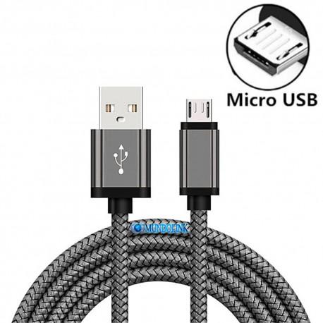 Cable Usb A Micro 3 Mts Blindado Carga Transferencia Rápida