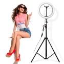 Aro Luz Led Selfie Trípode Celular Control Usb Anillo Circular