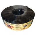 Cable Coaxial Negro Rg6 Rollo 100 Mt Parabolica Tv Chipa Tdt