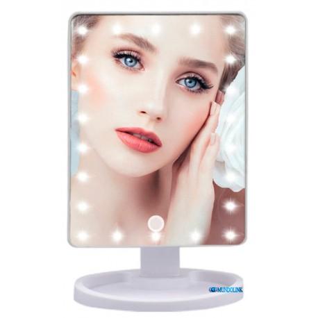 Espejo Maquillaje Luz Luces 22 Led Táctil