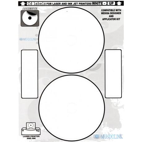 Portadas Label Stiker Adhesivo Imprimible Cd Dvd 50 Hojas