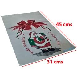 50 Bolsas Navidad Matrimonio Vino Galletas Traslucida 31x45 cms