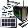 Kit Panel Solar Camping 3 Bombillas Usb Radio Mp3 Linterna