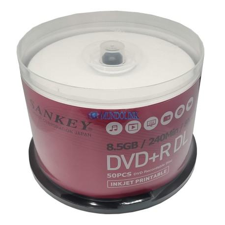 Dvd + R Dl Doble Capa Imprimible Huskee 50 Unids 8x 8.5 Gb
